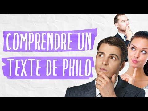 L'explication de texte -  Philosophie  - Terminale