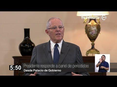 Presidente Pedro Pablo Kuczynski responde a periodistas (Parte 1)