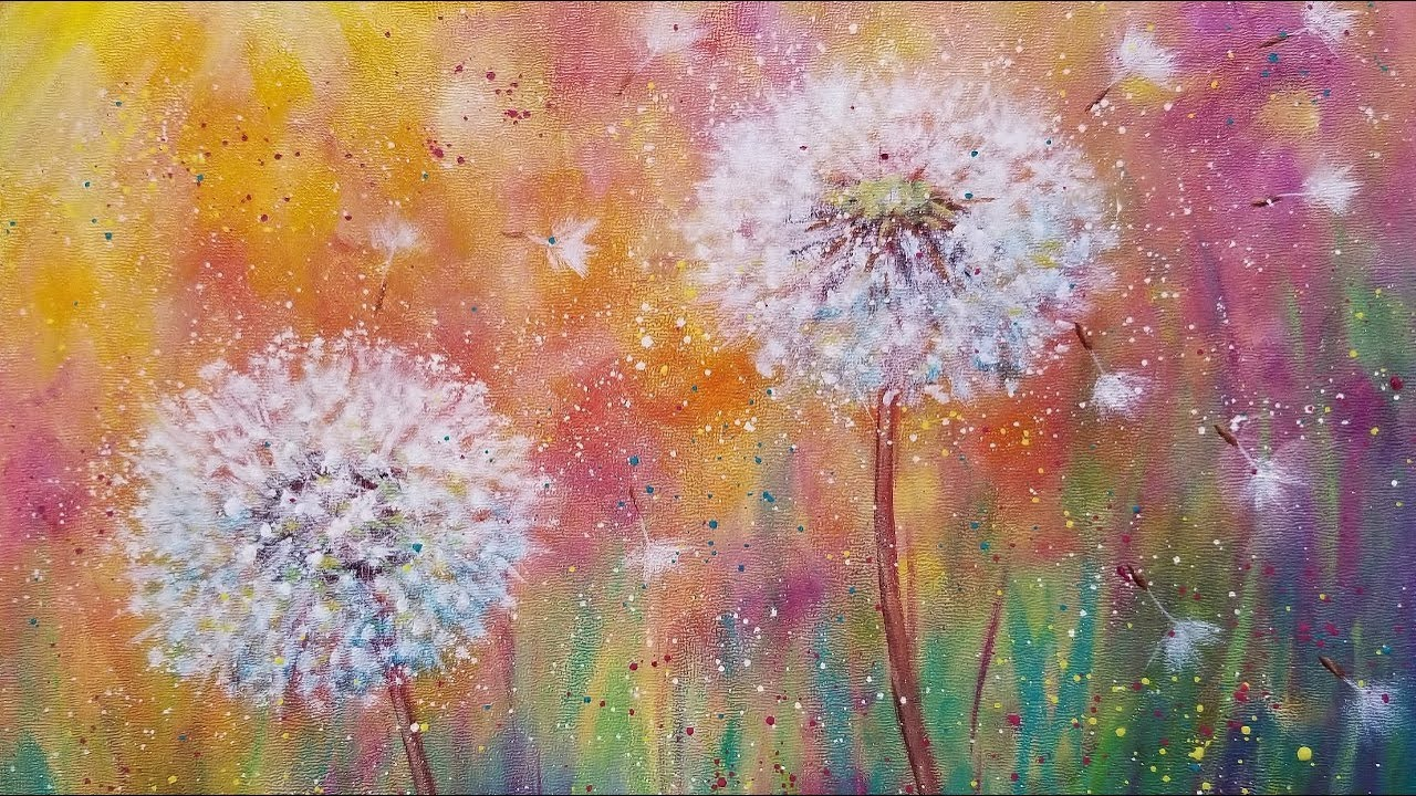 How To Paint Flowers With Acrylics Youtube