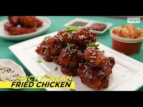 Resipi Spicy Korean Fried Chicken
