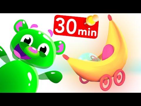 Gummy Bear Banana Cars Spiderman Compilation w. Bunny Rabbit, Baby Shark T-Rex