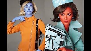 Кайю Гербер и Джиджи Хадид превратили в пришельцев в новой кампании Moschino