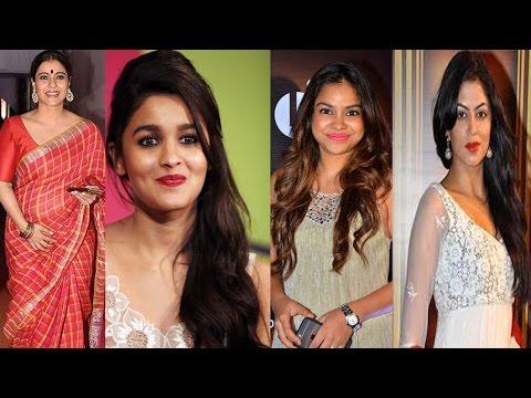 Alia Bhatt,Kajol,Sumona Chakravarti & Kavita Kaushik Attend Durga Puja   Bollywood News 2016
