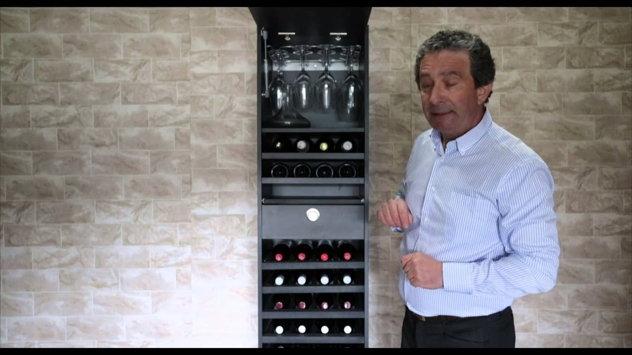 Botellero Merlot Vip capacidad 44 botellas  YouTube