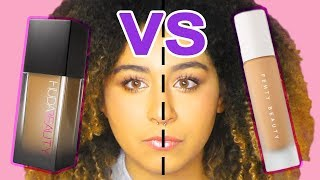 FOUNDATION SMACKDOWN: Huda Beauty VS Fenty Beauty + Wear Test