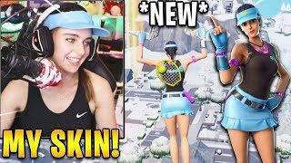 "Streamer Using NEW *UNRELEASED* ""Volley Girl"" Skin in-Game! 