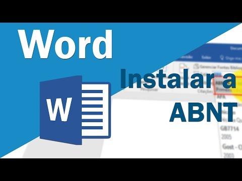 Word 2016 - Instalar/Importar Formatação (estilo/norma) Da ABNT
