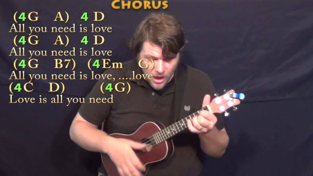 All You Need Is Love The Beatles Ukulele Cover Lesson With Chords