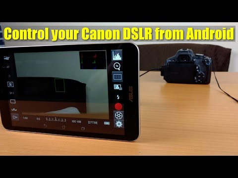 Tutorial - How to connect Android to Canon DSLR - Who needs a flipscreen?
