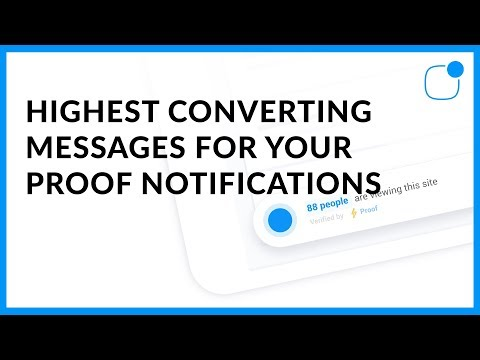 [Best Practice] Highest Converting Messages For Your Proof Notifications?