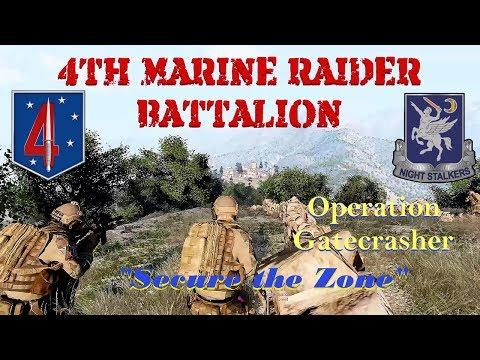 "4th Marine Raider Battalion, Operation Gatecrasher, ""Secure the Zone"""