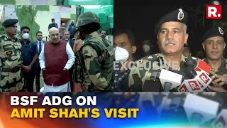 As Amit Shah Visits International Border, BSF ADG Briefs Him On Border Security Situation