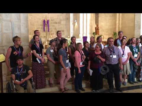 Israel 2018 – Worship In A Church At The Pool Of Bethesda