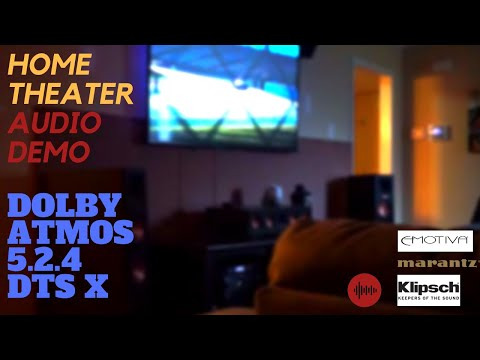 Ultimate Multi-format Home Theater Demo DOLBY ATMOS 5.2.4 DTS:X