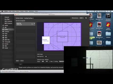QLab tutorial 3   Basic projection and mapping