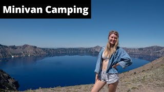 MINIVAN CAMPING: Oregon Roaḋtrip To Crater Lake and Hot Springs