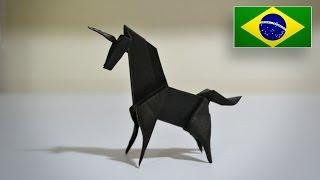 Origami: Unicórnio (Jo Nakashima) - Instruções em Português (BR)