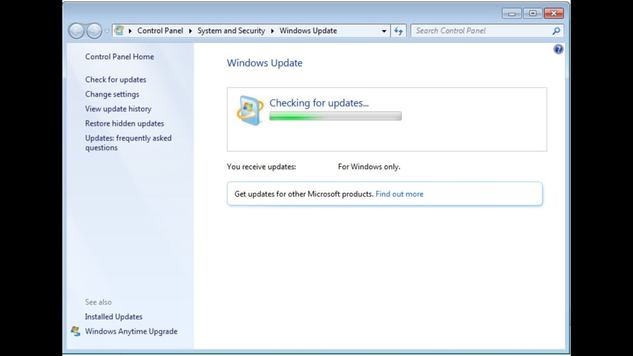 Why is not Windows updated