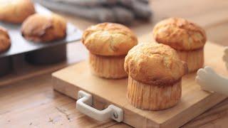 バニラマフィンの作り方 Vanilla Muffins|HidaMari Cooking