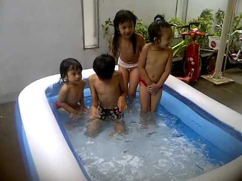 Kids ice bath
