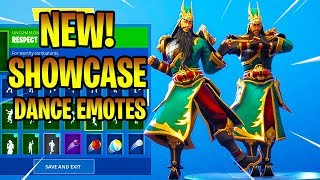*NEW* GUAN YU SKIN SHOWCASE WITH DANCE EMOTES! Fortnite Battle Royale