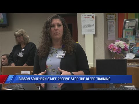 Gibson Southern High School hosts first aid training
