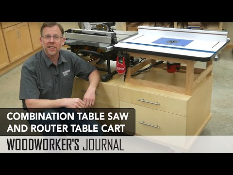Benchtop Tool Cart Overview - Table Saw and Router Table Cart
