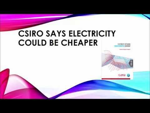 CSIRO ELECTRICITY REPORT spoken word example
