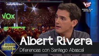 Albert Rivera remarca sus diferencias con Santiago Abascal y VOX - El Hormiguero 3.0