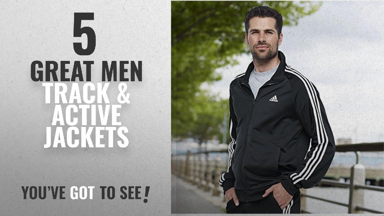 e97409849577 Top 10 Mens Track & Active Jackets [ Winter 2018 ]: adidas Men's Essentials  3-Stripe Tricot Track
