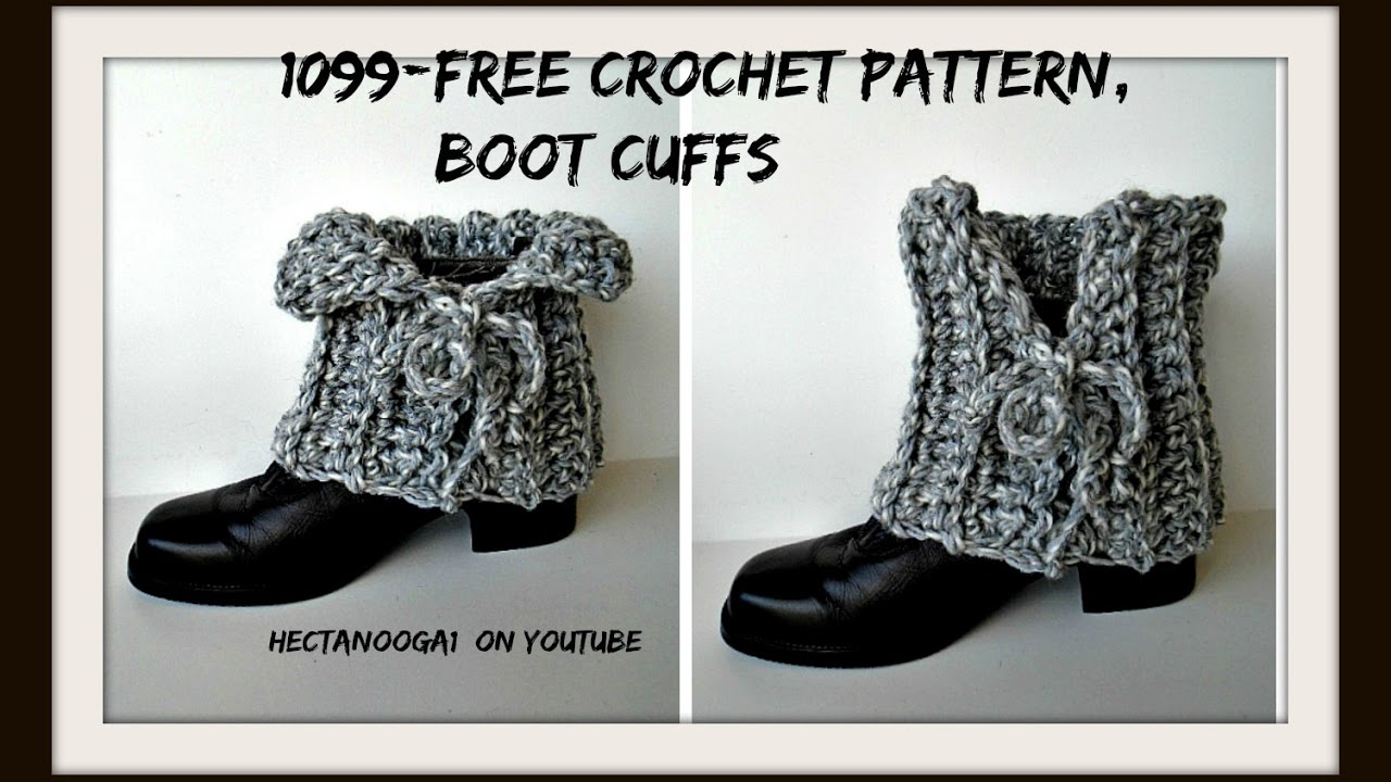Free Crochet Boot Cuff Pattern Laced Boot Cuffs 1099yt Easy
