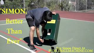 Simon2, pickleball throwing machine. He can do it all.