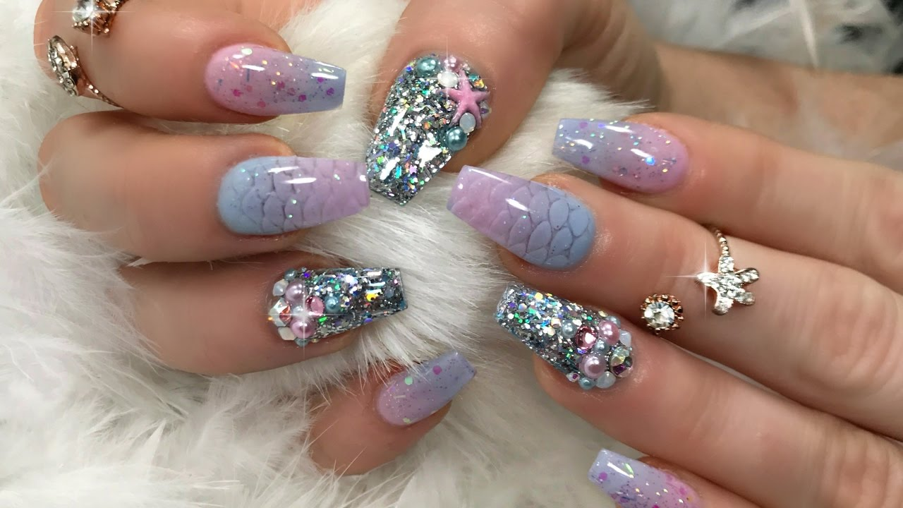 MERMAID NAILS STEP BY STEP - YouTube