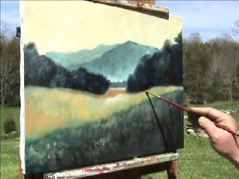 Landscape Painting Demonstration  (w/classical music)