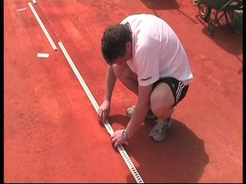 Changing Lines on a Clay Tennis Court