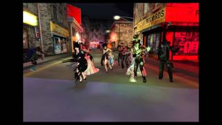 The ghoulish community of Olrich Estates in Secondlife celebrate Ha...
