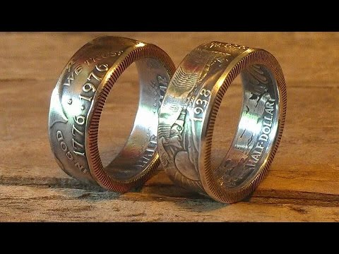 Antique and Finish Polishing Silver Double Sided Coin Rings