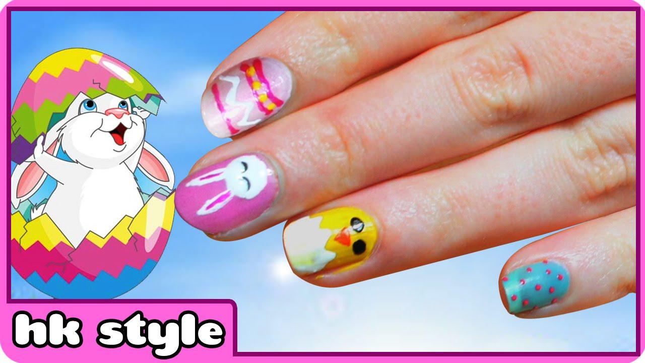 easter nail art three cute and easy tutorials nail art designs
