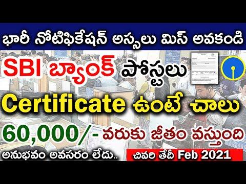SBI Recruitment 2021   Latest State Bank of India Jobs   500+ Vacancies   In Telugu