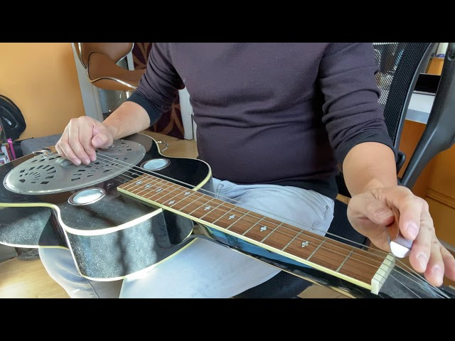 Demonstration of lap steel guitar