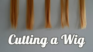 Cosplay Wig Cutting | My Methods
