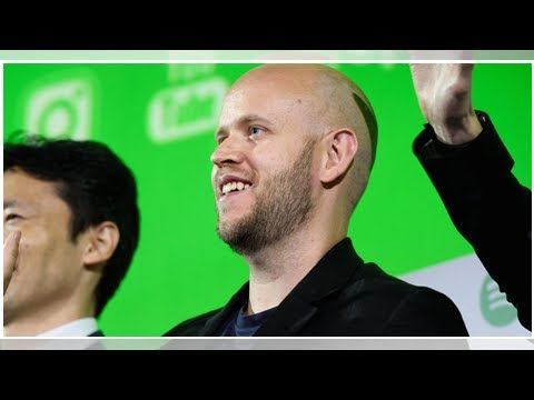Spotify stock plunges after reporting earnings for the first time