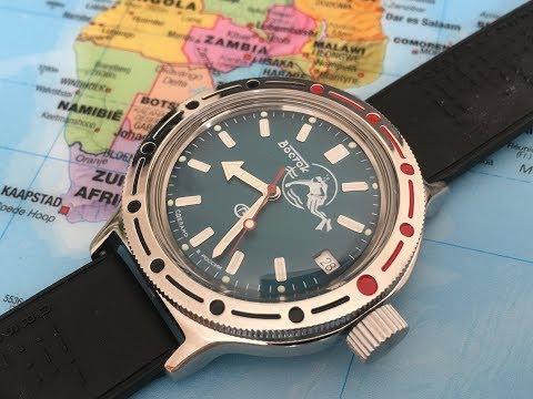 The Best Russian Automatic Dive Watch Under $60   Vostok Amphibia 420059   Scuba Dude   Unboxing  