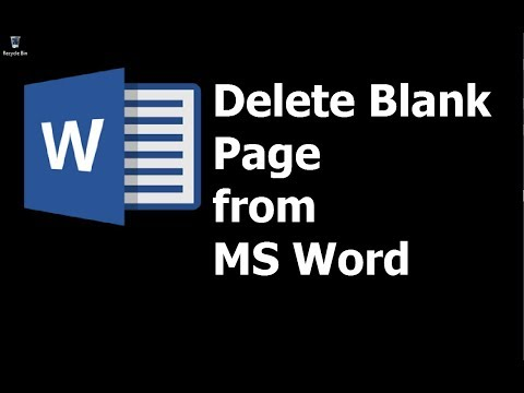 How To  Delete Blank Pages From Word Documents