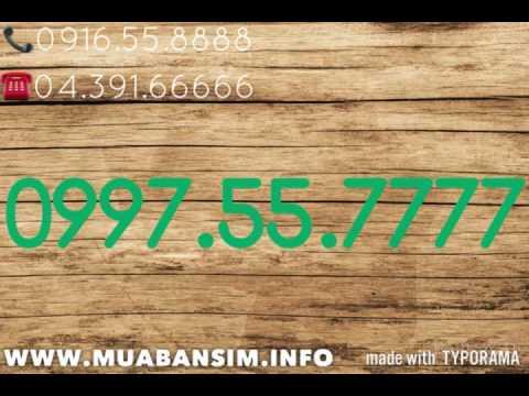 0997.55.7777 tứ quý 7 mạng quyền lực gmobile