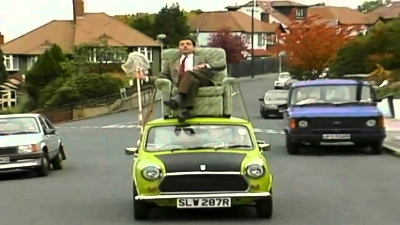 Mr Bean Driving On Roof Of Car Youtube