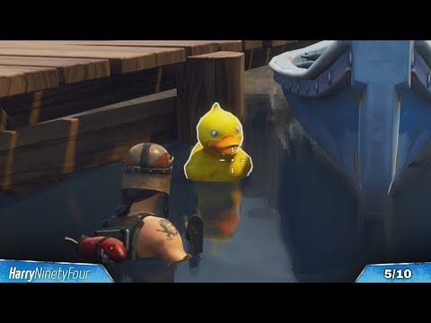 Fortnite Battle Royale - All Rubber Duckies Locations Guide (Season 4 Challenge)
