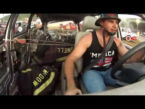 Highland County Fair 2017 Demo Derby. Heavy Hitter #42. Interior