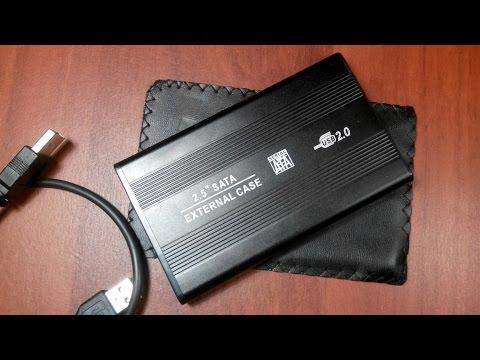 Контейнер для жесткого диска 2 5 SATA USB 2 0 Обзор Посылка из Китая