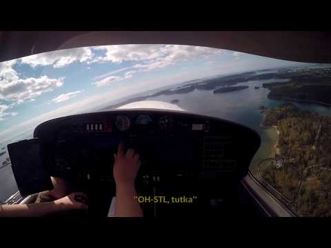 DA40NG cross-country flight from Helsinki to Tallinn (OH-STL)